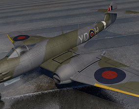 3D plane Gloster Meteor F3