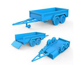 car 3D printable model Trailer