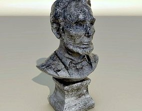 3D Abraham Lincoln stone bust