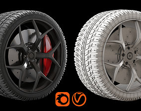 3D Rim and Tire