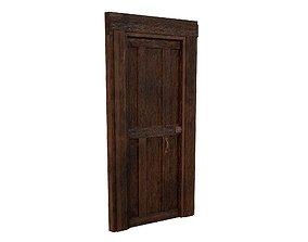 3D asset Old Wood Door
