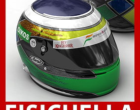 Helmet F1 2009 Giancarlo Fisichella 3D model