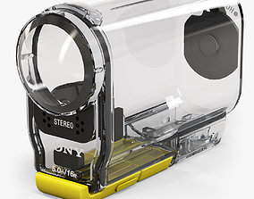 Sony SPK-AS2 Case for HDR-AS100V 3D asset realtime
