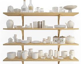 3D model Crockery Shelves