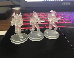 3D printable model 28mm Sci-Fi PMC Squad