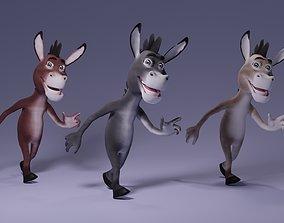 Toon Humanoid Donkey 3D model