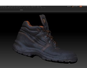 low-poly Boot 3D model various