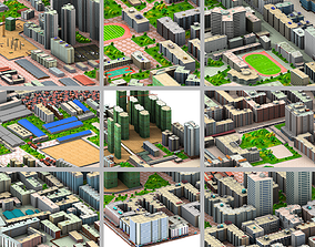 3D asset City bolck
