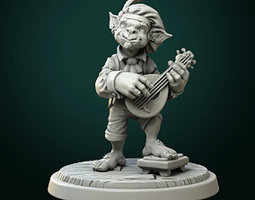 3D print model Goblin bard pre-supported
