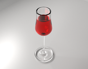 Wine Glass 2 with Liquid 3D