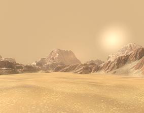 Background Landscapes Desert Sand 3D asset