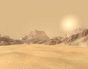 Background Landscapes Desert Sand 3D asset