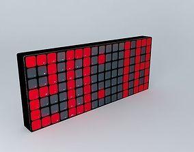 3D model The Pixel Clock Maisons du Monde