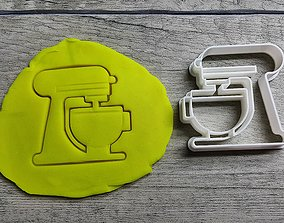 3D print model Kitchenaid cookie cutter