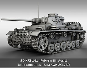 3D PzKpfw III - Ausf J - Mid Production