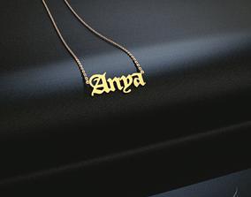 Name pendant Anya 3D printable model