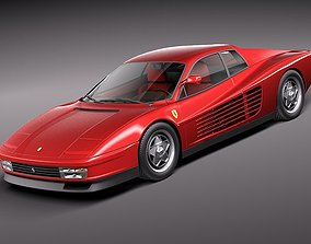 Ferrari Testarossa 1984-1990 3D Model car