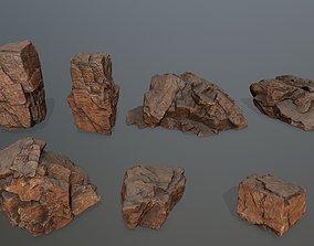 desert rock set 3D model VR / AR ready mosy