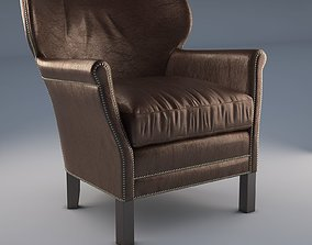 Professors Leather Chair With Nailheads 3D asset
