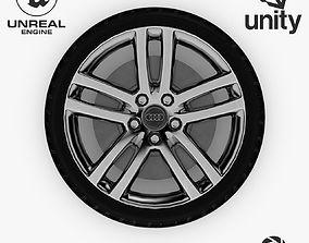 3D asset Wheel Steel-Chrome Alloy Rim 6