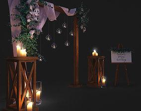 wedding arch 3D