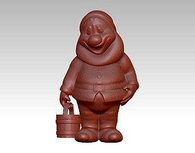 Garden Gnome with Bucket of water 3D printable model
