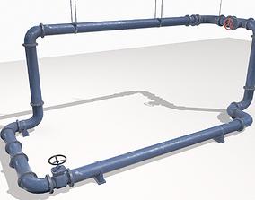 Modular pipes pack 1 3D asset