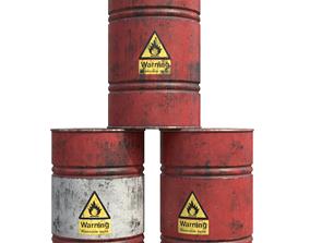 Flammable liquid Barrel Pack PBR 3D model