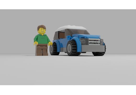 LEGO city car