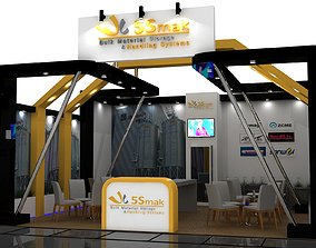 Exhibition Stall Size 7 m x 7 m Height 360 cm 3D model
