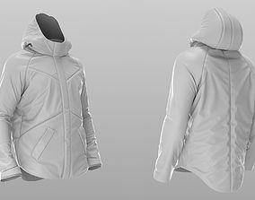 3D model Puffer Jacket - Coat