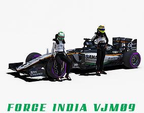 Force India VJM09 3D asset