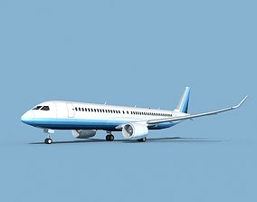Airbus A220-300 Corporate 2 3D model