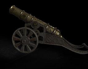 Antique Signal Cannon 3D model