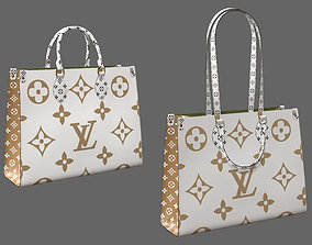 3D model Louis Vuitton Onthego Giant Monogram Gold White