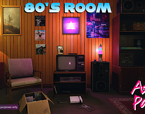 Low-Poly 80s Room Pack 3D model