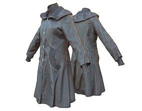Black Womans Coat 3D model