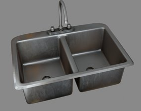 Kitchen Sink 3D asset game-ready