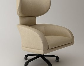 Office Wing Back Armchair 3D