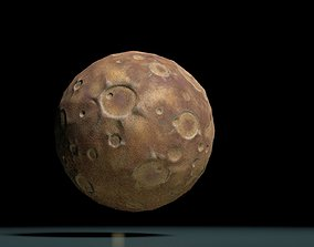 3D asset game-ready Moon PBR