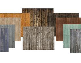 10 plank textures 3D model