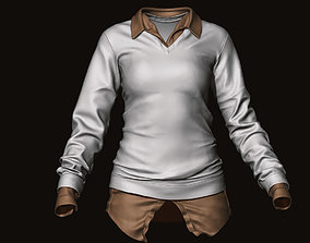 3D model Realistic FemaleShirts sculpted zbrush file