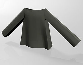 3D model Boat-Neck Top 01