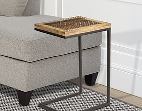 3D Aryn Solid Wood C Table End Table