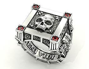 Vampire Skull ring many sizes 3D print model