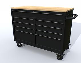 Workbech Storage Tools Trolley 1 3D asset