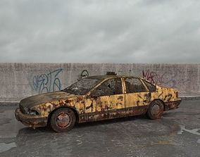 3D model destroyed car 001 am165