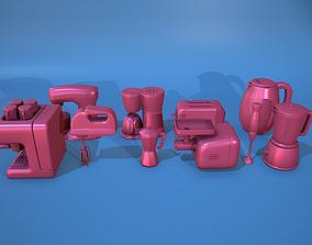 Stylized Kitchen Tool Set 3D model