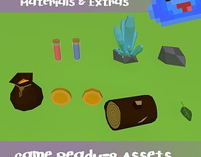 3D asset Low Poly RPG p1 -Micro Kit - Basic Materials and