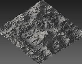 3D asset Large-Scale Moon Environment